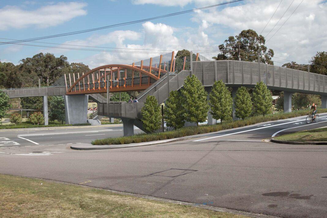 An artist impression of the shared path bridge.