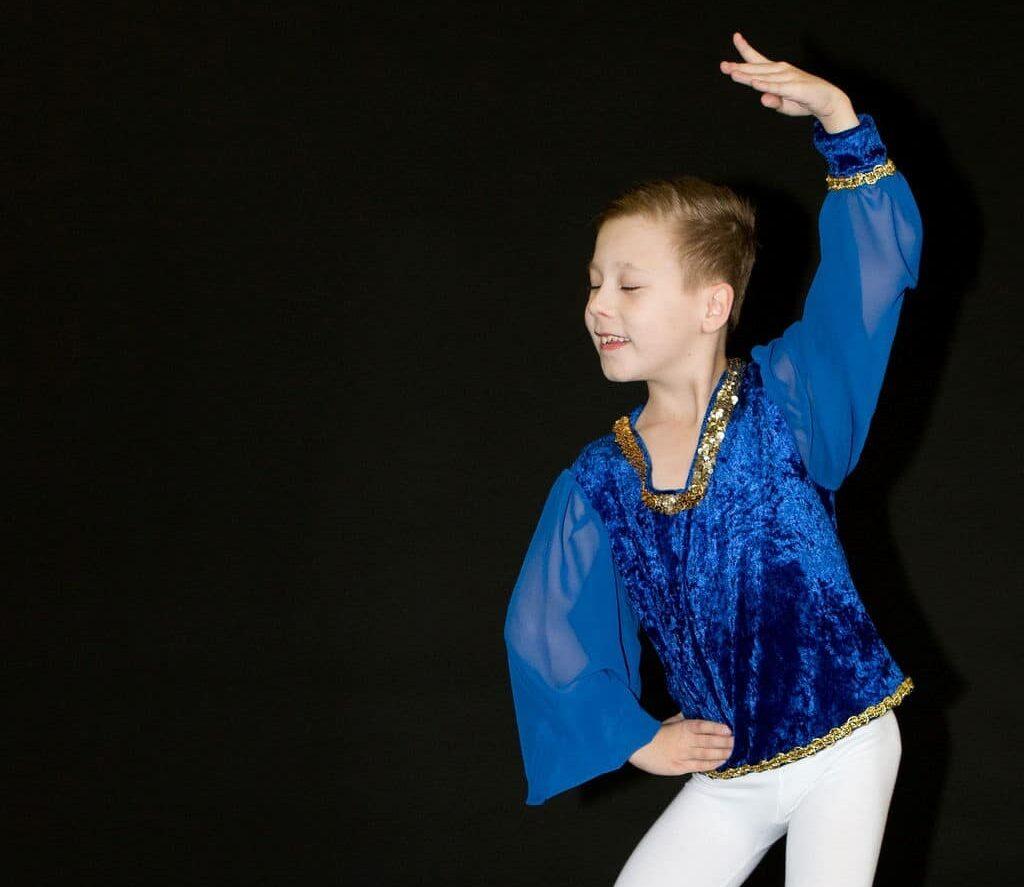 young boy dancing