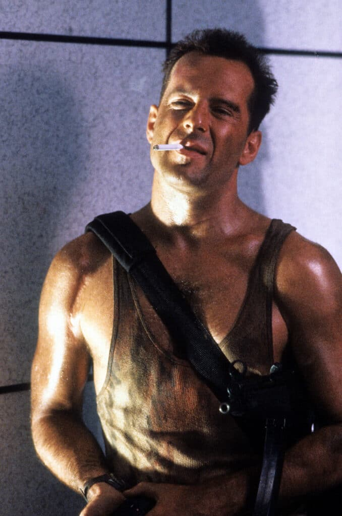 Bruce Willis in the 1988 christmas classic 'Die Hard'