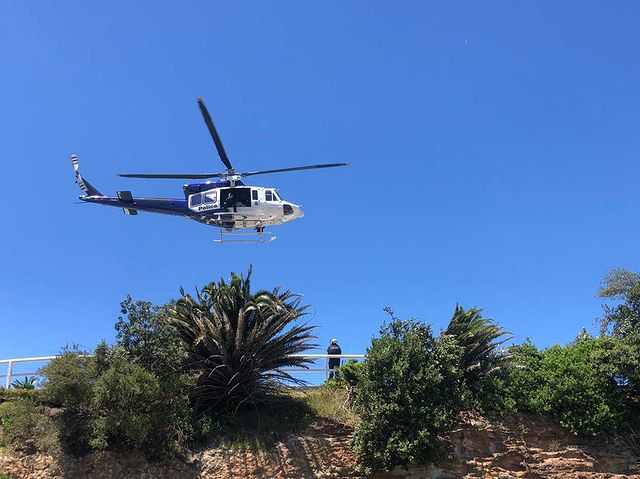 police helicopter during police operation