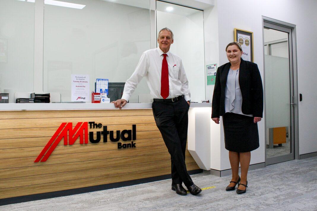 two people at Mutual Bank