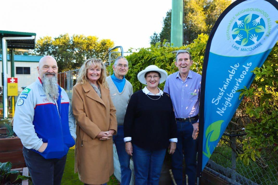 Sustainable Neighbourhoods volunteers at the Holmesville Community Garden